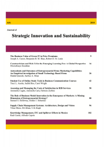 Journal of Strategic Innovation and Sustainability