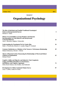Journal of Organizational Psychology