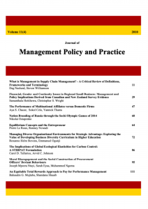 Journal of Management Policy and Practice